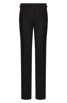Мужской шерстяные брюки TOM FORD темно-серого цвета, арт. 644R08/610041 | Фото 1
