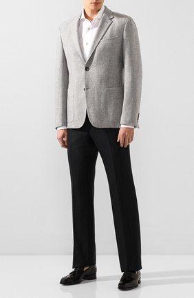 Мужской шерстяные брюки TOM FORD темно-серого цвета, арт. 644R08/610041 | Фото 2