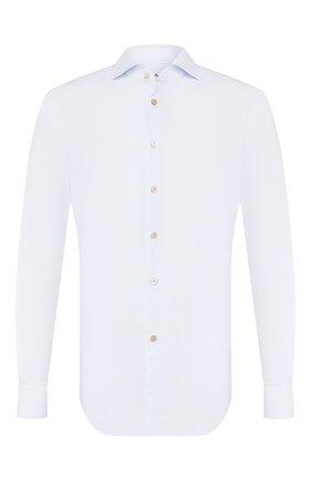Мужская хлопковая сорочка KITON светло-голубого цвета, арт. UCIH0660202 | Фото 1