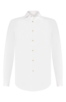 Мужская хлопковая сорочка KITON белого цвета, арт. UCIH000340100P | Фото 1