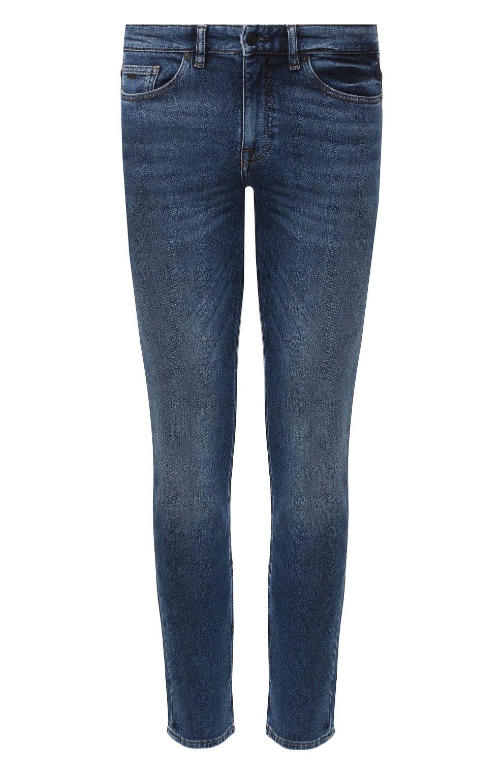 Мужские джинсы BOSS голубого цвета, арт. 50421436 | Фото 1