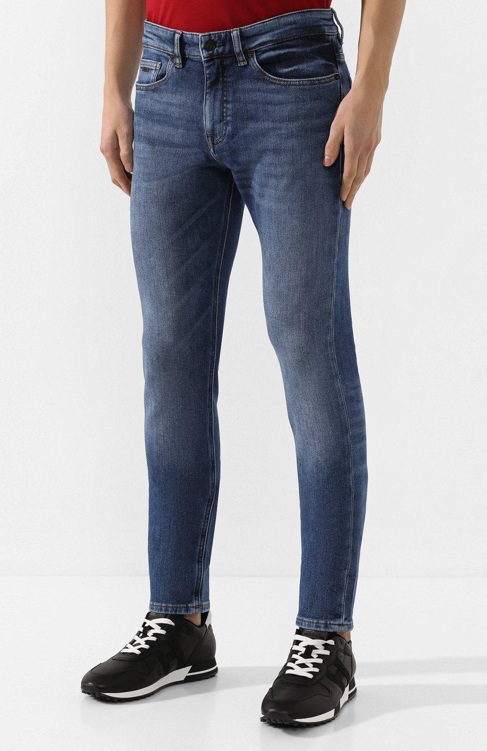 Мужские джинсы BOSS голубого цвета, арт. 50421436 | Фото 3
