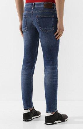 Мужские джинсы BOSS голубого цвета, арт. 50421436 | Фото 4