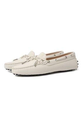 Женские кожаные мокасины heaven TOD'S белого цвета, арт. XXW0FW050305J1 | Фото 1