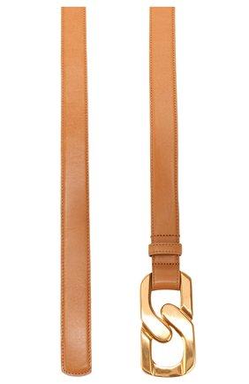 Женский кожаный ремень OSCAR DE LA RENTA желтого цвета, арт. 20RA101 | Фото 2