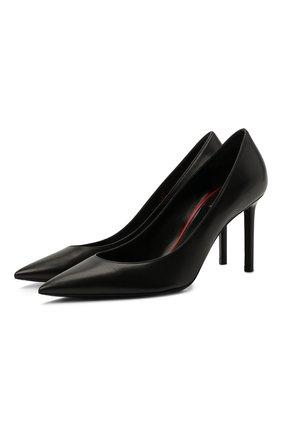 Женская кожаные туфли anja SAINT LAURENT черного цвета, арт. 489751/AKP00 | Фото 1