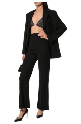 Женская кожаные туфли anja SAINT LAURENT черного цвета, арт. 489751/AKP00 | Фото 2