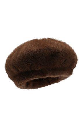 Женский берет из меха норки COLOR TEMPERATURE коричневого цвета, арт. 19ct1011 | Фото 1