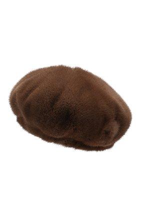 Женский берет из меха норки COLOR TEMPERATURE коричневого цвета, арт. 19ct1011 | Фото 2