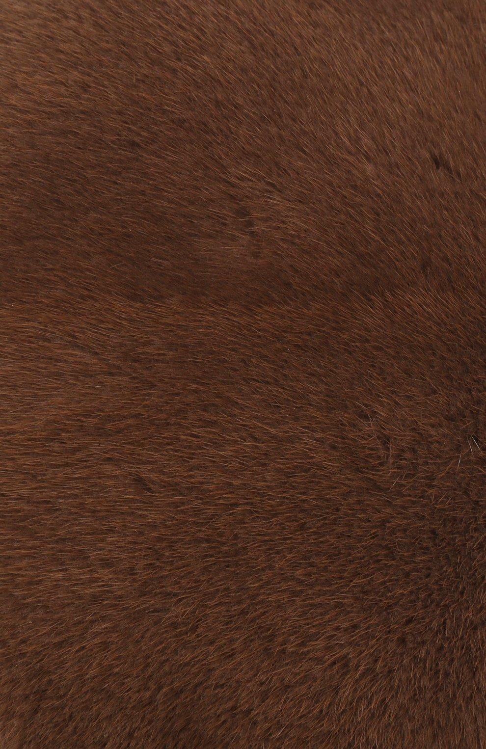Берет из меха норки | Фото №3