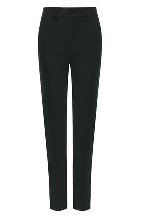 Женские брюки из вискозы BOSS зеленого цвета, арт. 50419640 | Фото 1