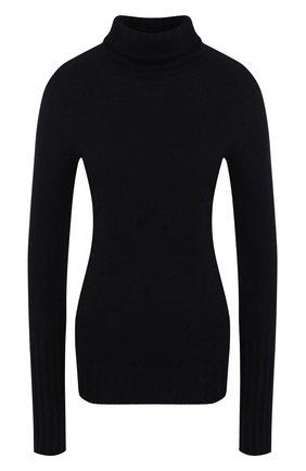 Женская кашемировая водолазка KITON темно-синего цвета, арт. D48725   Фото 1 (Рукава: Длинные; Материал внешний: Шерсть, Кашемир; Длина (для топов): Стандартные; Стили: Кэжуэл; Женское Кросс-КТ: Водолазка-одежда)