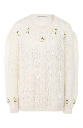 Женская шерстяной свитер ALESSANDRA RICH белого цвета, арт. FAB1874-K2597 | Фото 1