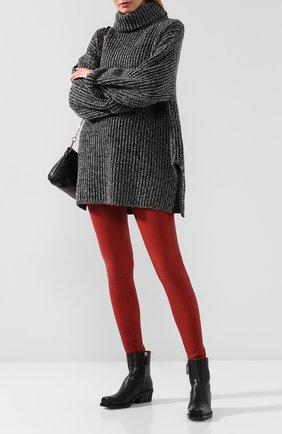 Женские кожаные брюки FRAME DENIM красного цвета, арт. LWLT0306 | Фото 2