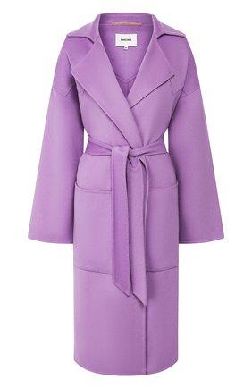 Пальто из смеси шерсти и шелка | Фото №1
