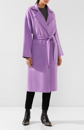 Пальто из смеси шерсти и шелка | Фото №2