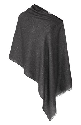 Женская пончо BRUNELLO CUCINELLI темно-серого цвета, арт. MSCDAR070 | Фото 1