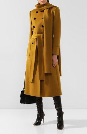 Женское шерстяное пальто DOLCE & GABBANA желтого цвета, арт. F0Y59T/FU3I5 | Фото 2