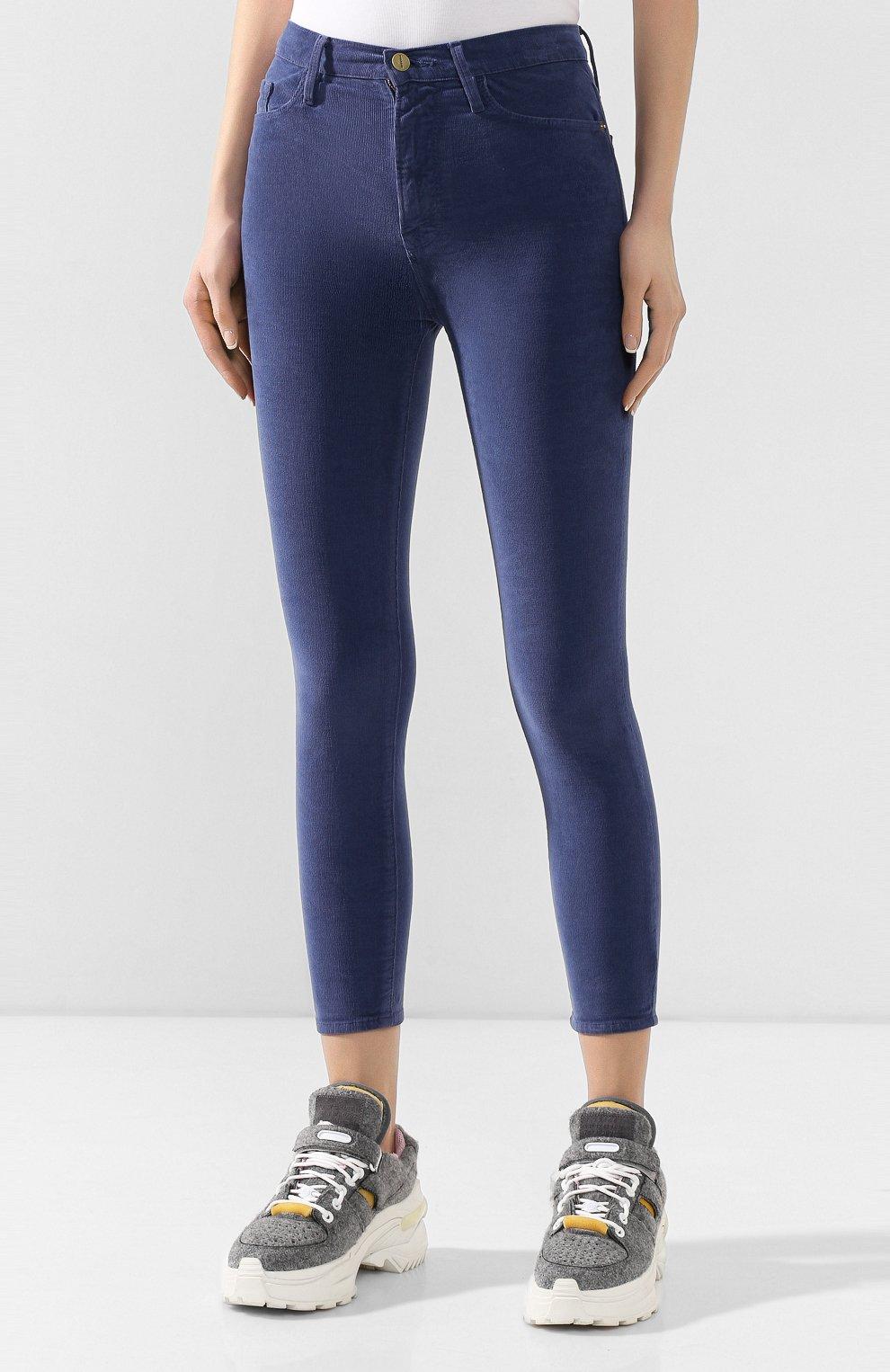 Женские вельветовые брюки FRAME DENIM синего цвета, арт. AHRSCCD523 | Фото 3