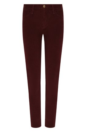 Женские вельветовые брюки FRAME DENIM бордового цвета, арт. LHSKCD523 | Фото 1