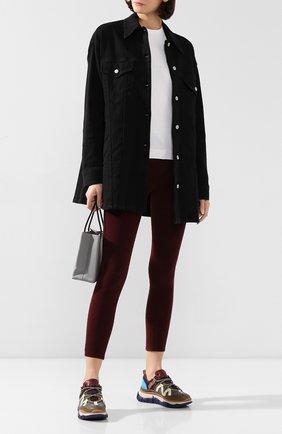 Женские вельветовые брюки FRAME DENIM бордового цвета, арт. LHSKCD523 | Фото 2