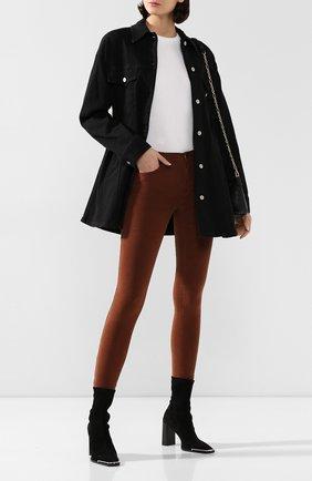 Женские вельветовые брюки FRAME DENIM коричневого цвета, арт. LHSKCD523 | Фото 2