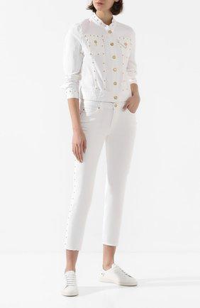 Женская джинсовая куртка ESCADA SPORT белого цвета, арт. 5032024 | Фото 2