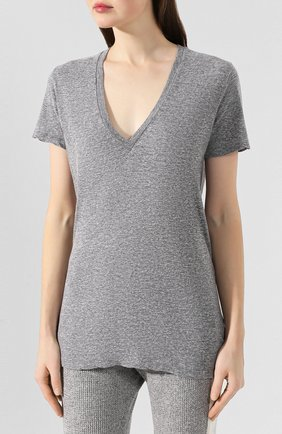 Женская футболка MONROW серого цвета, арт. HT218MHJ | Фото 3