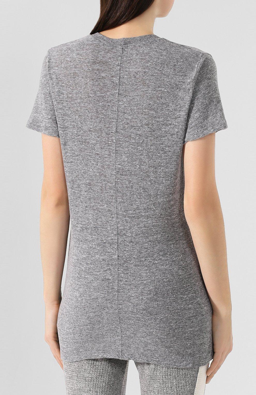 Женская футболка MONROW серого цвета, арт. HT218MHJ | Фото 4