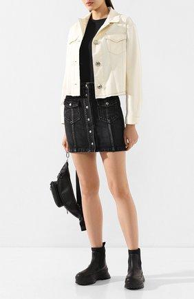 Женская джинсовая куртка 7 FOR ALL MANKIND белого цвета, арт. JSK4V520VN | Фото 2