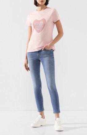 Женские джинсы ESCADA SPORT голубого цвета, арт. 5032044 | Фото 2