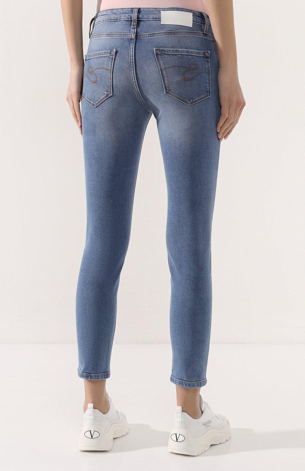 Женские джинсы ESCADA SPORT голубого цвета, арт. 5032044 | Фото 4