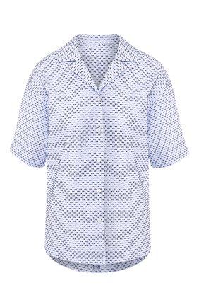 Женская хлопковая рубашка ESCADA синего цвета, арт. 5031977 | Фото 1