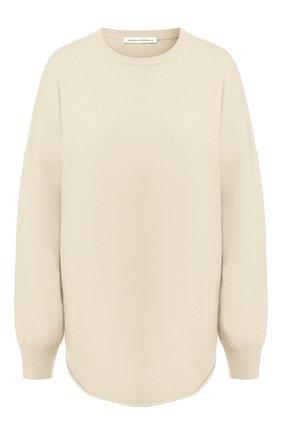 Женский кашемировый свитер EXTREME CASHMERE бежевого цвета, арт. 053/CREW H0P | Фото 1