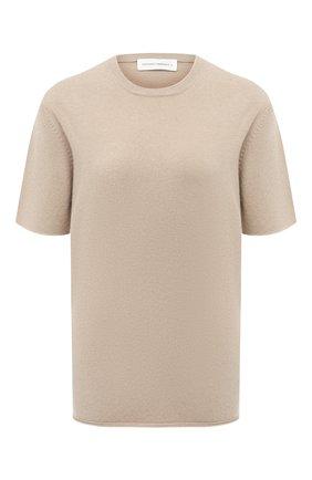 Женская кашемировая футболка EXTREME CASHMERE бежевого цвета, арт. 064/TSHIRT | Фото 1