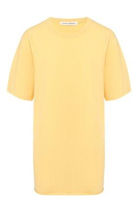 Женская кашемировая футболка EXTREME CASHMERE желтого цвета, арт. 064/TSHIRT   Фото 1