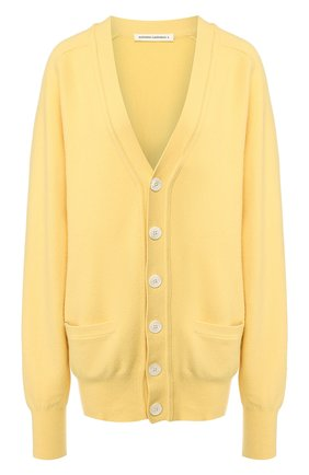 Женский кашемировый кардиган EXTREME CASHMERE желтого цвета, арт. 117/CARDIGAN | Фото 1