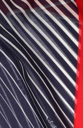 Женское парео из смеси хлопка и шелка VALENTINO синего цвета, арт. TW2EA013/CBV | Фото 2