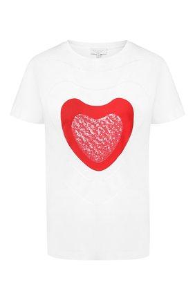 Женская хлопковая футболка ESCADA SPORT белого цвета, арт. 5032018   Фото 1