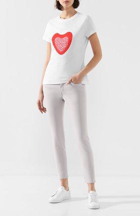 Женская хлопковая футболка ESCADA SPORT белого цвета, арт. 5032018   Фото 2