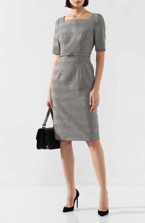 Женское шерстяное платье ESCADA серого цвета, арт. 5031935 | Фото 2