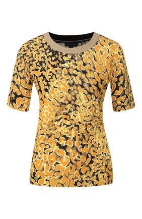 Женский топ из смеси вискозы и хлопка ESCADA желтого цвета, арт. 5031780 | Фото 1