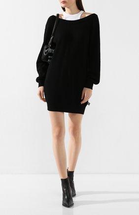 Женское шерстяное платье ALEXANDERWANG.T черно-белого цвета, арт. 4KC1206012 | Фото 2