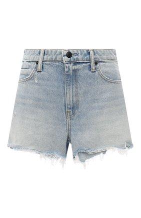 Женские джинсовые шорты DENIM X ALEXANDER WANG голубого цвета, арт. 4D994037AD | Фото 1