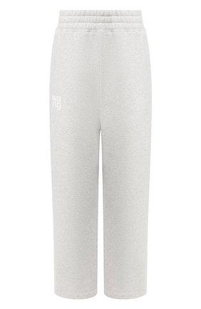Женские хлопковые брюки ALEXANDERWANG.T серого цвета, арт. 4CC1204016 | Фото 1
