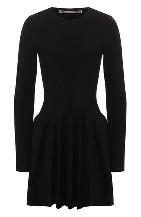 Женское хлопковое платье ALEXANDER WANG черного цвета, арт. 1KC1206038 | Фото 1