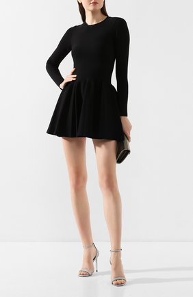 Женское хлопковое платье ALEXANDER WANG черного цвета, арт. 1KC1206038 | Фото 2