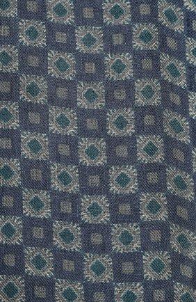 Мужской шарф из смеси шелка и льна LORO PIANA синего цвета, арт. FAL0022 | Фото 2