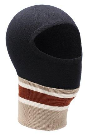 Мужская шерстяная шапка-балаклава LORO PIANA темно-синего цвета, арт. FAI9837 | Фото 1