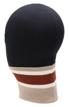 Мужская шерстяная шапка-балаклава LORO PIANA темно-синего цвета, арт. FAI9837 | Фото 2